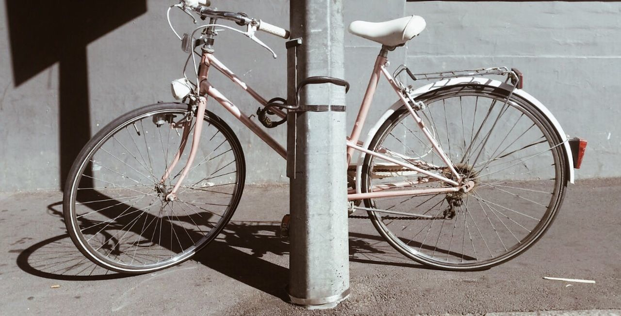 Bicycle Mode Of Transport City Urban Pink Transportation Bicycle Rack