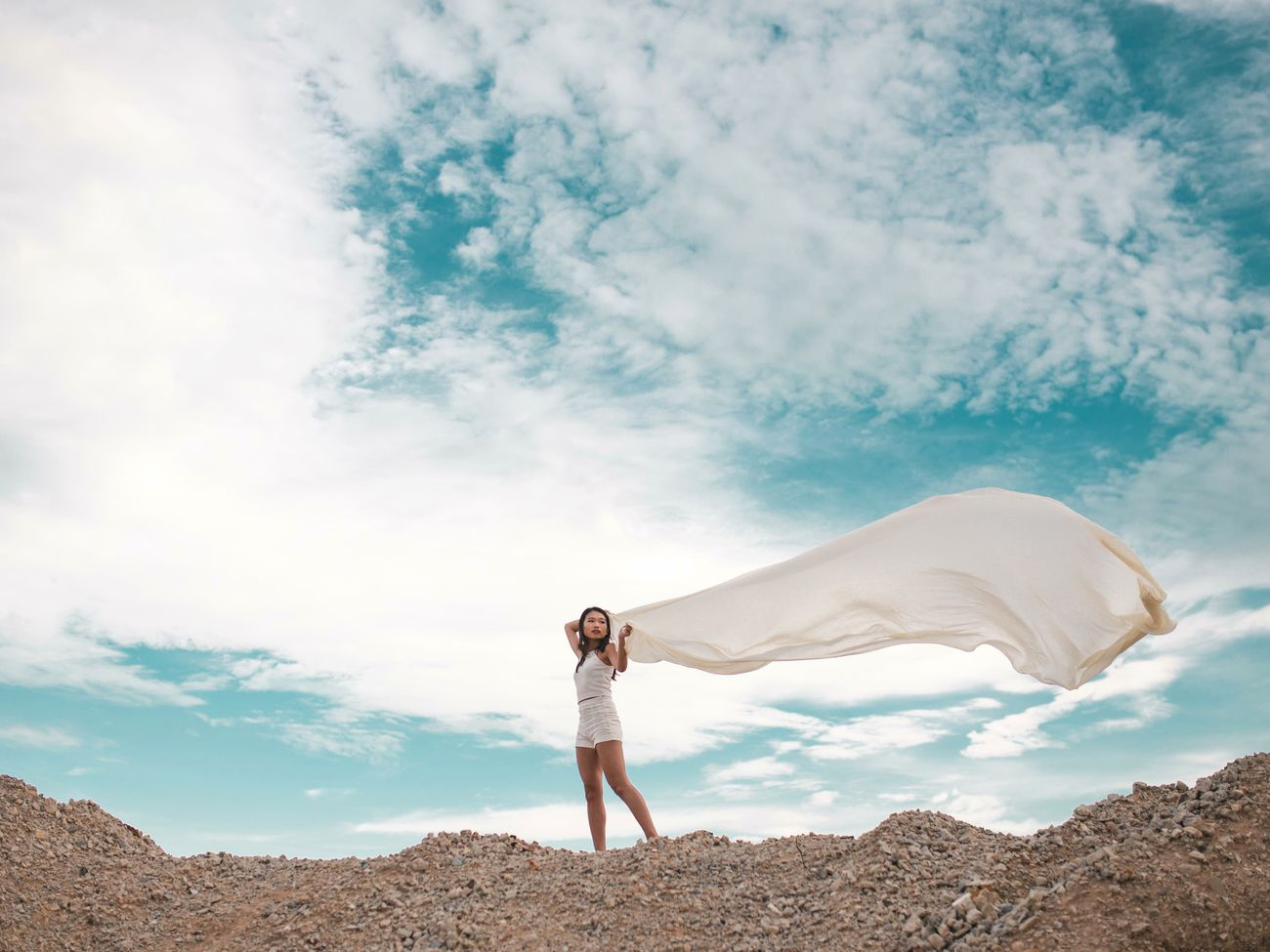 you, in the middle of the world Freedom Nature One Woman Only Cloud - Sky Outdoors Adventure Landscape Sky Portrait Standing Travel Destinations Women Around The World Beautiful People Tinypeopleinbigplaces Beauty In Nature Blue Sky And Clouds Blue Sky Clouds