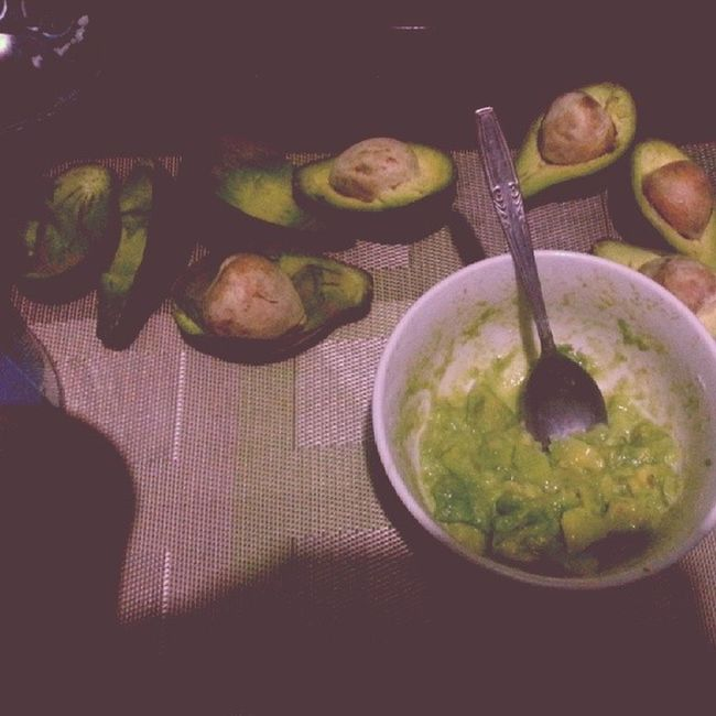 Avocado to eat and for the face mask :) Bitmessy Green