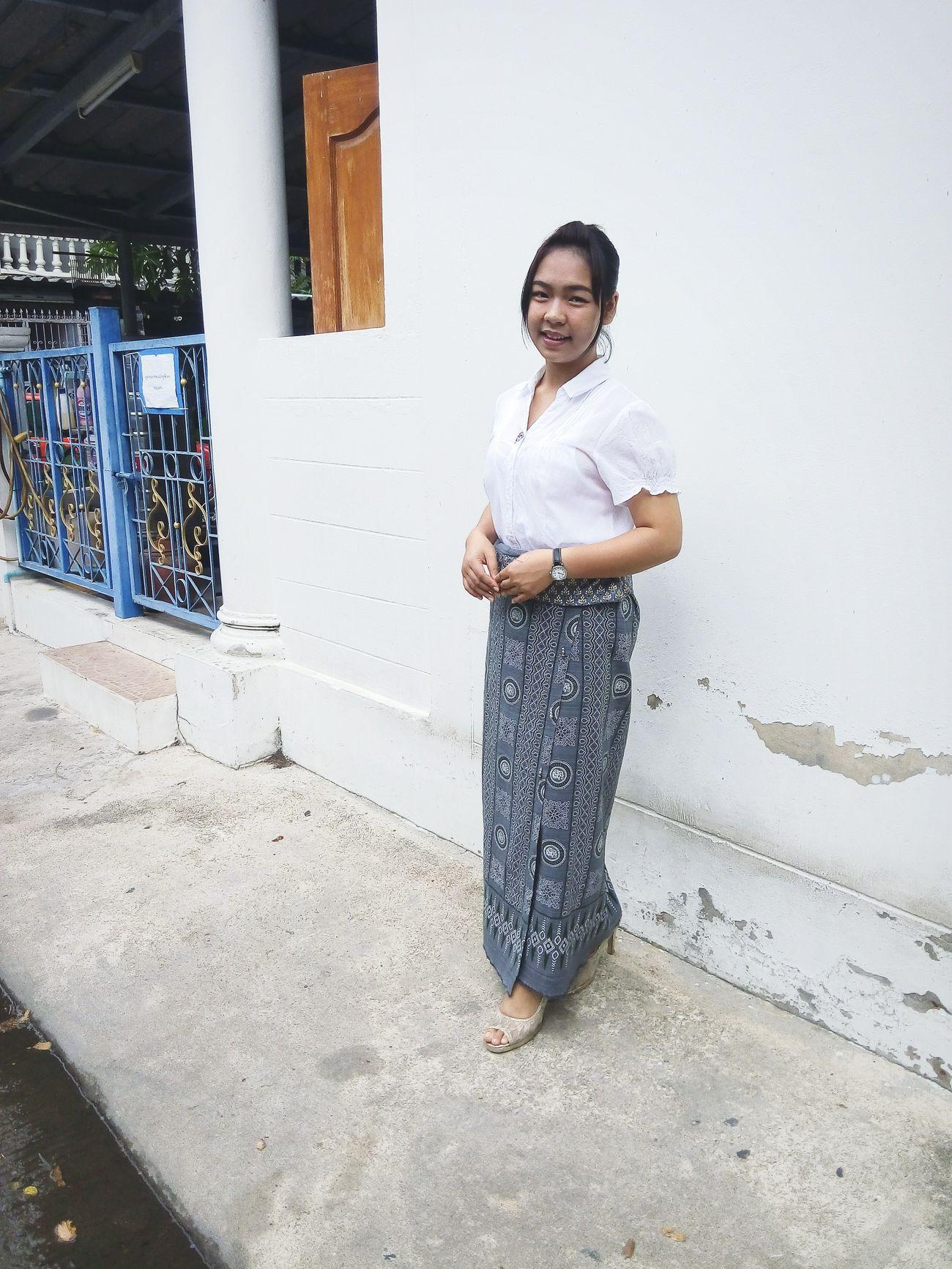 (เห็นกระแสนางสาวทองสร้อย) วันนี้ขอเสนอ นางสาว เทวี 😊 Thaigirl Thaiculture Thaistyle Thailand