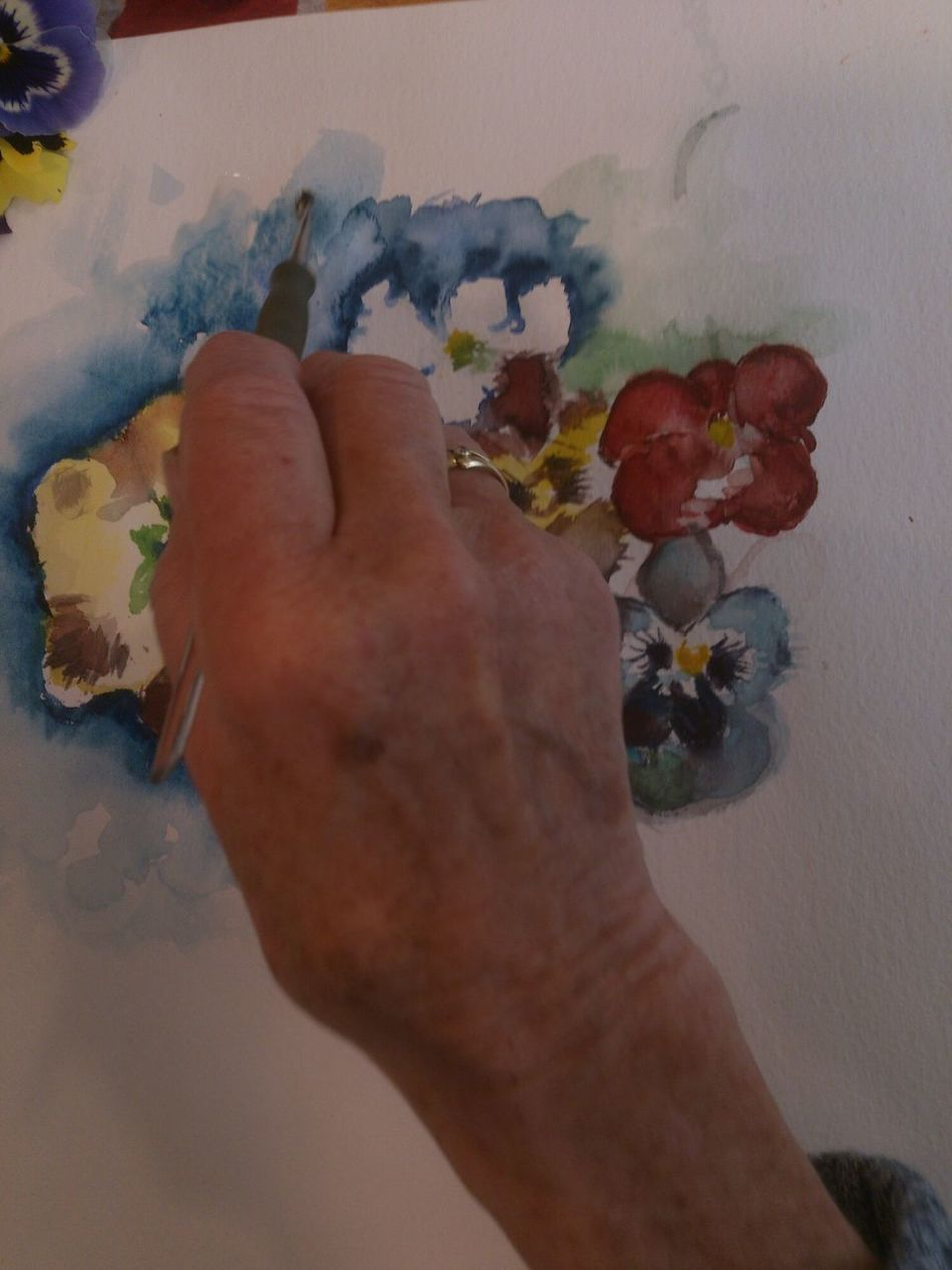 Everyday Education Never Too Late  Aquarell Art, Drawing, Creativity Colors Flowers Painting Senior Hand