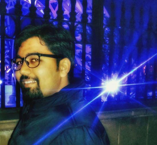 Eyeglasses  Mature Adult One Man Only Illuminated Nightlife Smiling Close-up EyeEmNewHere