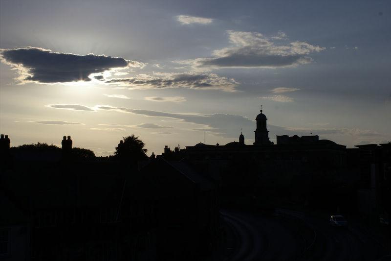 Silhouette of York city skyline from the city wall Silhouette Silhouette Of A City Silhouette Of A Skyline Skyline Silhouette Sky And Clouds Evening Sky