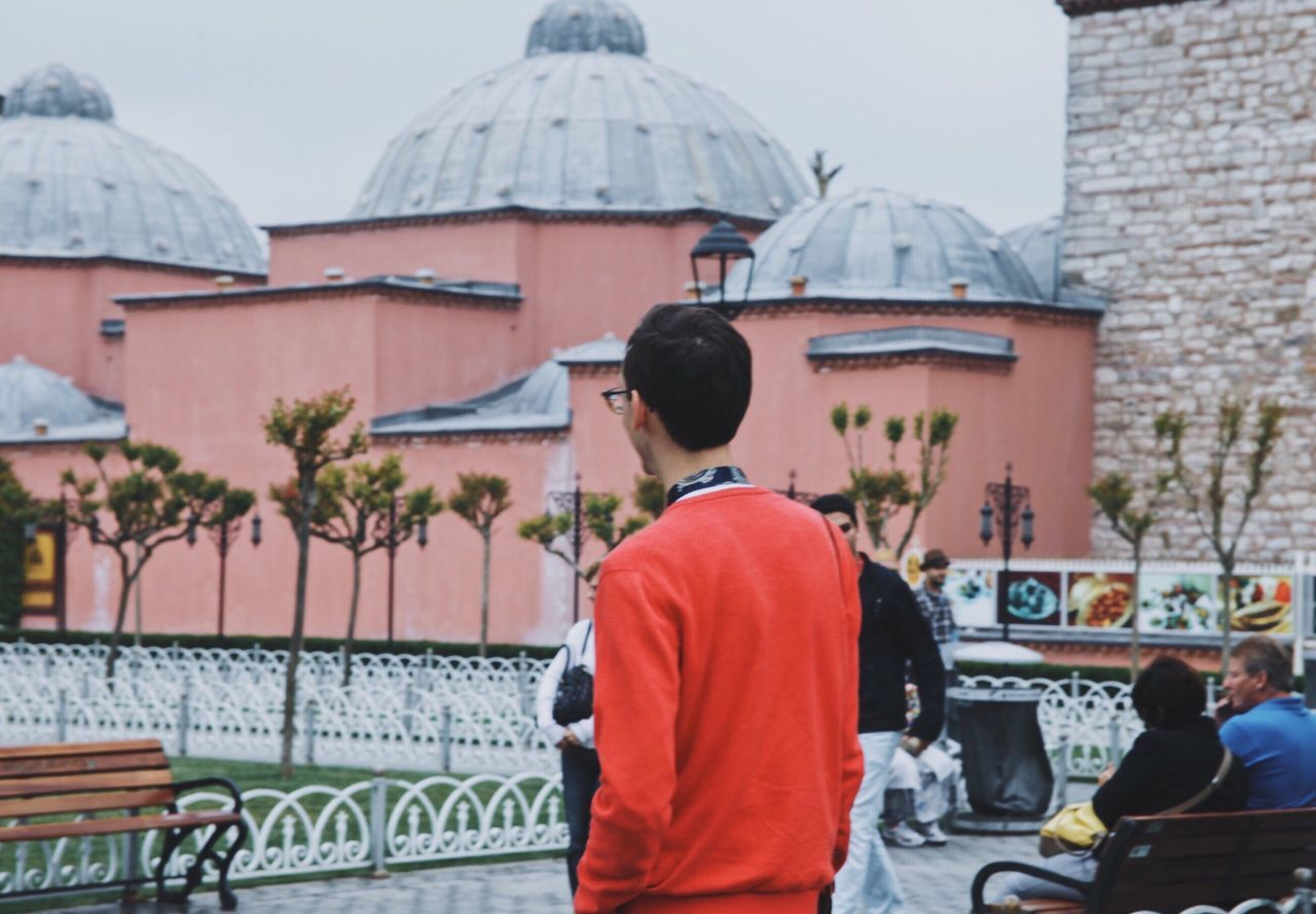 The Street Photographer - 2017 EyeEm Awards Real People Rear View Building Exterior Architecture Religion Built Structure Pink Place Of Worship Outdoors Day Lifestyles Large Group Of People Open Edit City People Live For The Story Place Of Heart Summer Travel Istanbul Tourist Mosque Pastel Colors