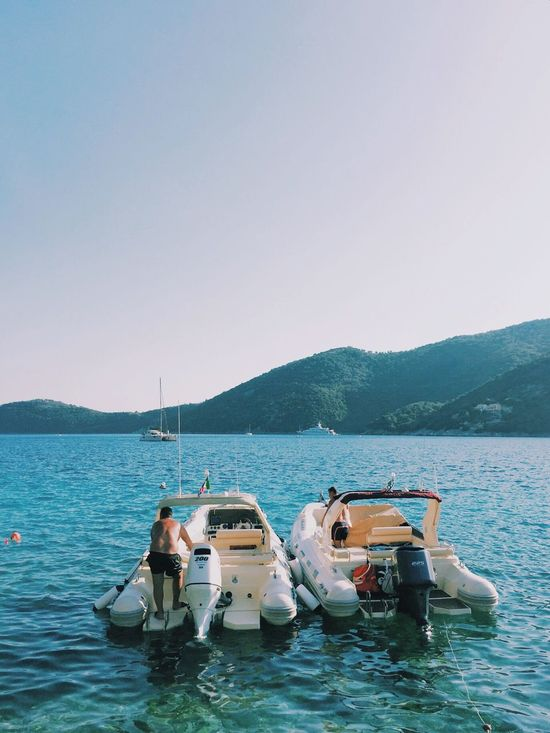 EyeEm Selects Greek Lefkada Life Boating Tanned Old Men Chillin'
