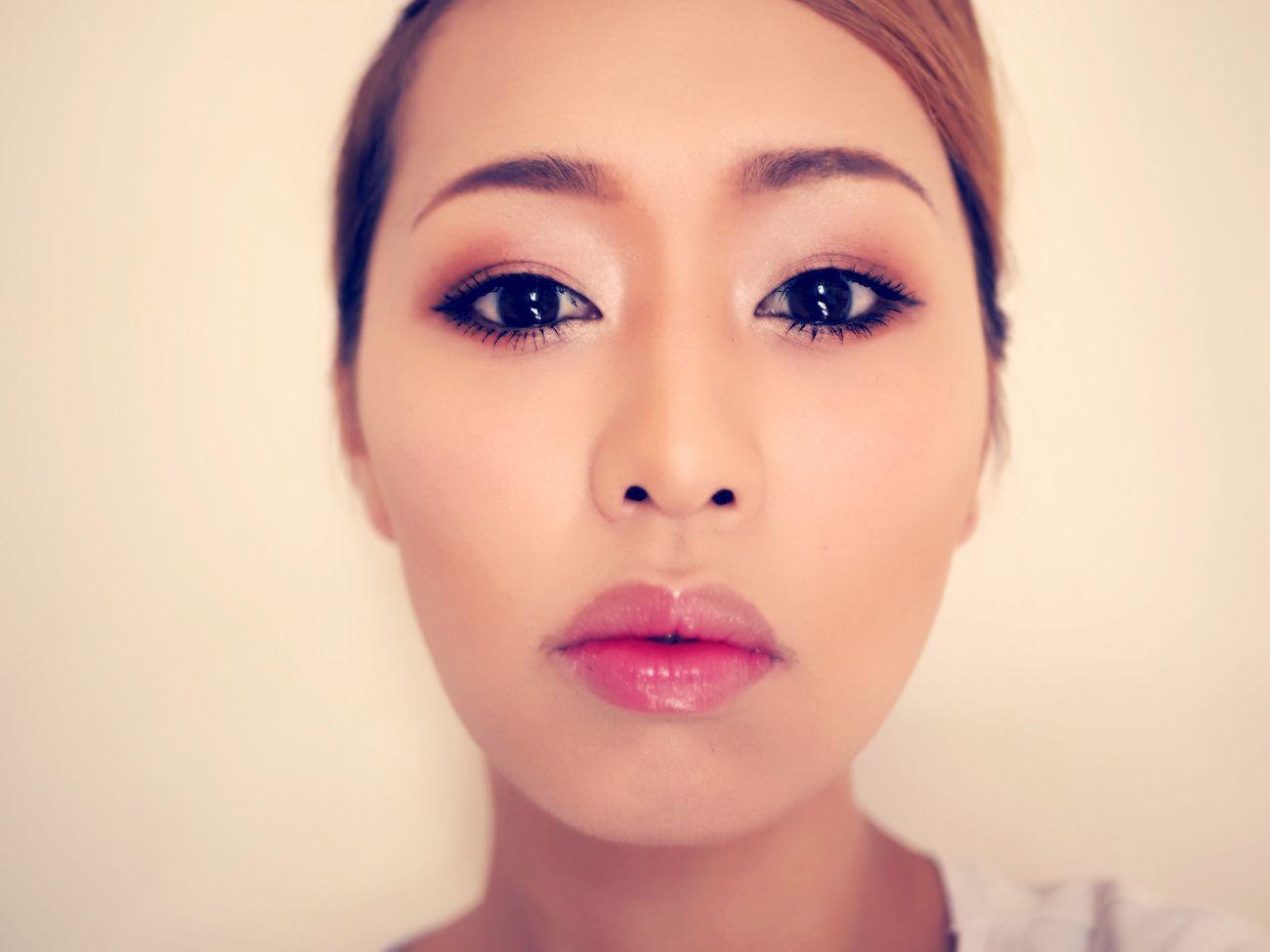 Makeup by me Beauty Looking At Camera Make-up Make-up Makeup Makeupartist Photo Makeuplovers Makeupbyme Orange Japanese