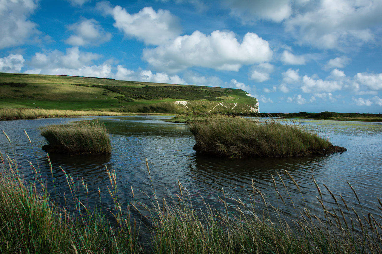 Beachy Head - East Sussex Beachy Head Beauty In Nature Cloud - Sky Day East Sussex Grass Lake Landscape Marsh Nature No People Outdoors Reed - Grass Family Reflection Scenics Sky Water