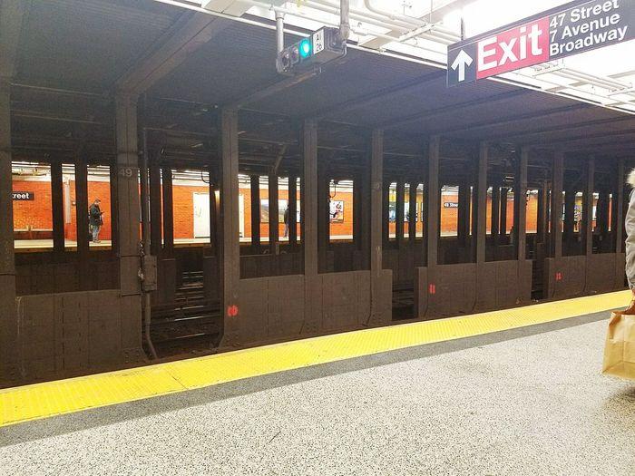 NYC NYC Subway Subway Subway Station Underground Thanksgiving Orange Empty Railway Phone Phoneography Phone Photography Phonecamera