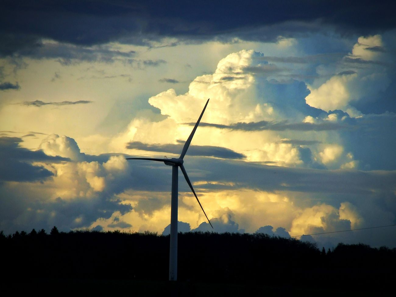Cloud - Sky Wind Power Nature Sky No People Power In Nature Wind Turbine Clouds And Sky Cloudy Sky Big Clouds Dramatic Clouds