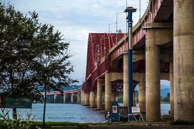 Bangwha Bridge Bridge Han River Seoul South Korea Korea River