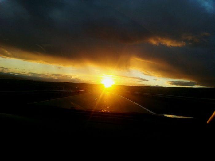 Sunlight Sunset Cloud - Sky Dramatic Sky Travel Road No People First Eyeem Photo