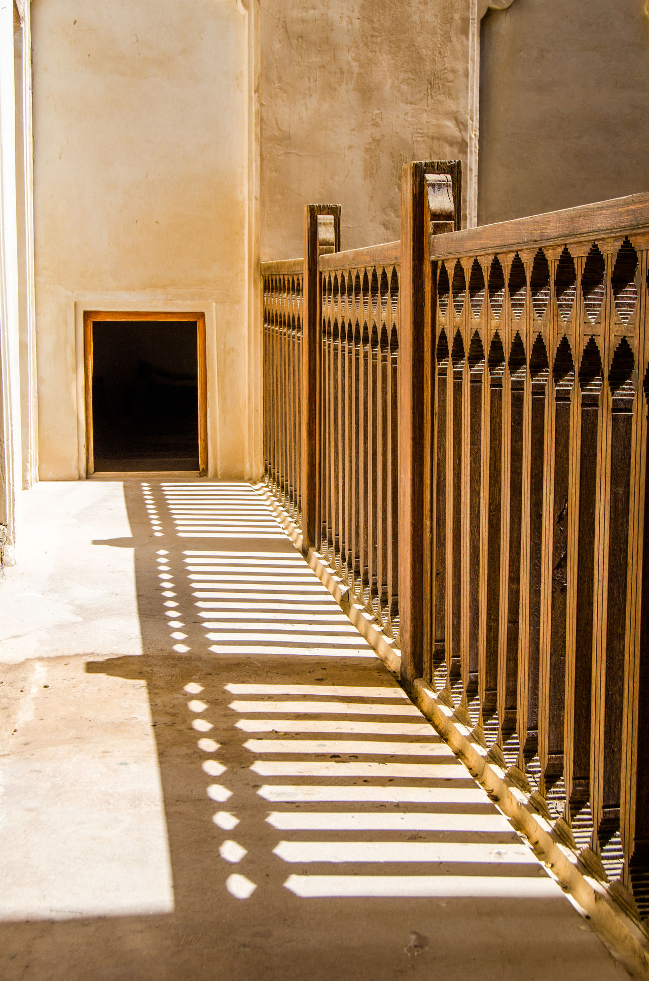 Shadows of Guilt Architecture Door Heritage Building Leading Lines Light Light And Shadow Oman Patterns Railing Shadow Sunlight Sunlight And Shadow Wooden