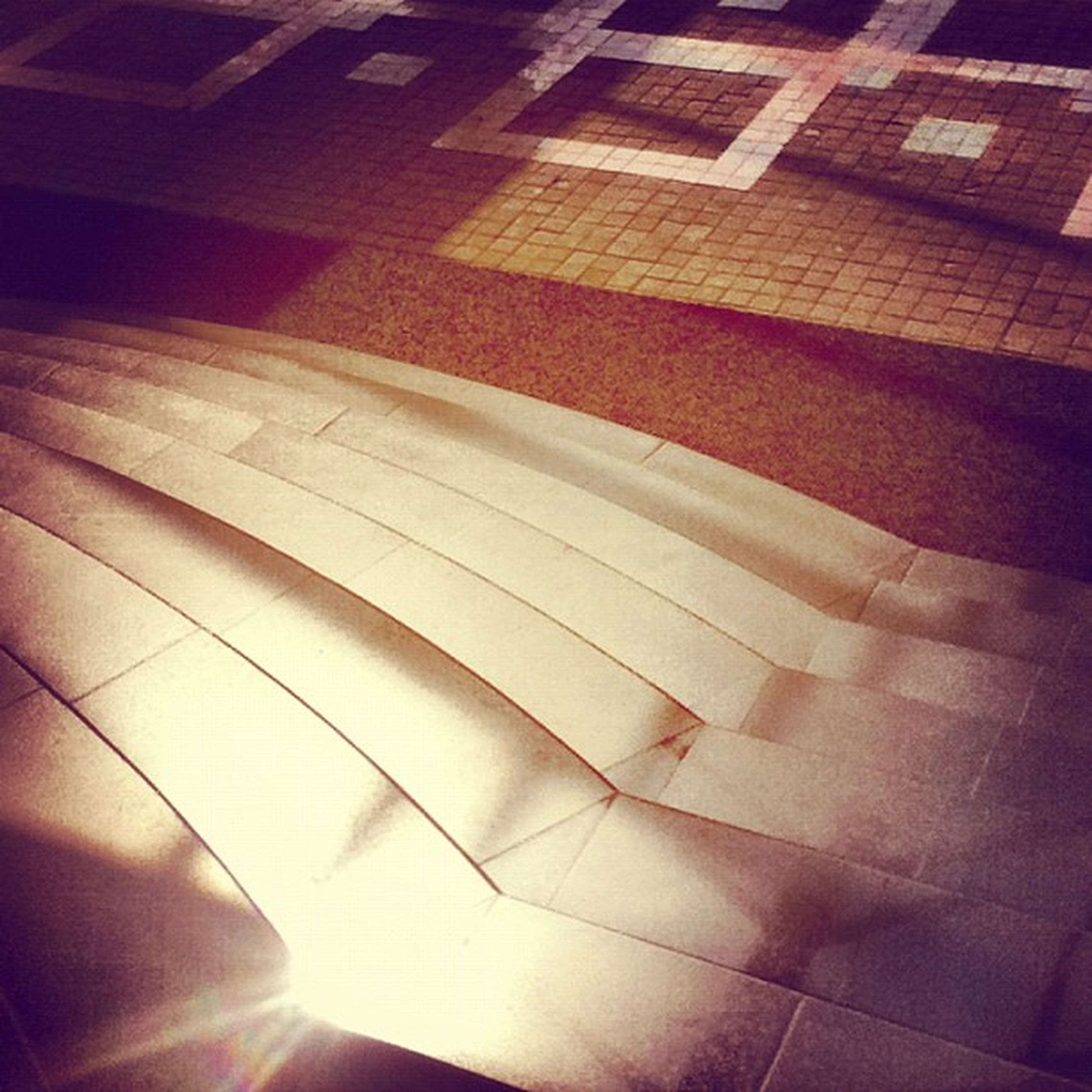 indoors, architecture, ceiling, built structure, pattern, low angle view, modern, illuminated, sunlight, architectural feature, design, building, shadow, no people, full frame, backgrounds, directly below, wall - building feature, geometric shape, shape