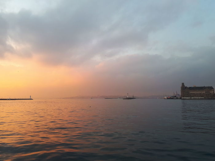 Sunset Social Issues Sea Business Finance And Industry Horizon Over Water Dramatic Sky Nautical Vessel