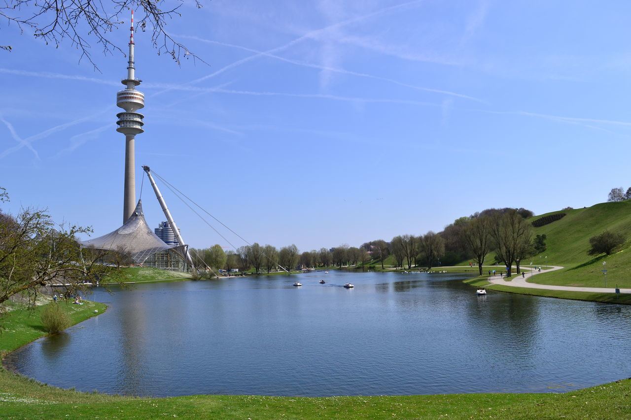 Munich, Germany Nikon NikonD7100 Olympiastadion München Architecture Beauty In Nature Blue Building Exterior Built Structure Day First Eyeem Photo Grass Lake Mountain Nature Nikonphotography No People Olympiaparkmünchen Outdoors Scenics Sky Travel Destinations Tree Water