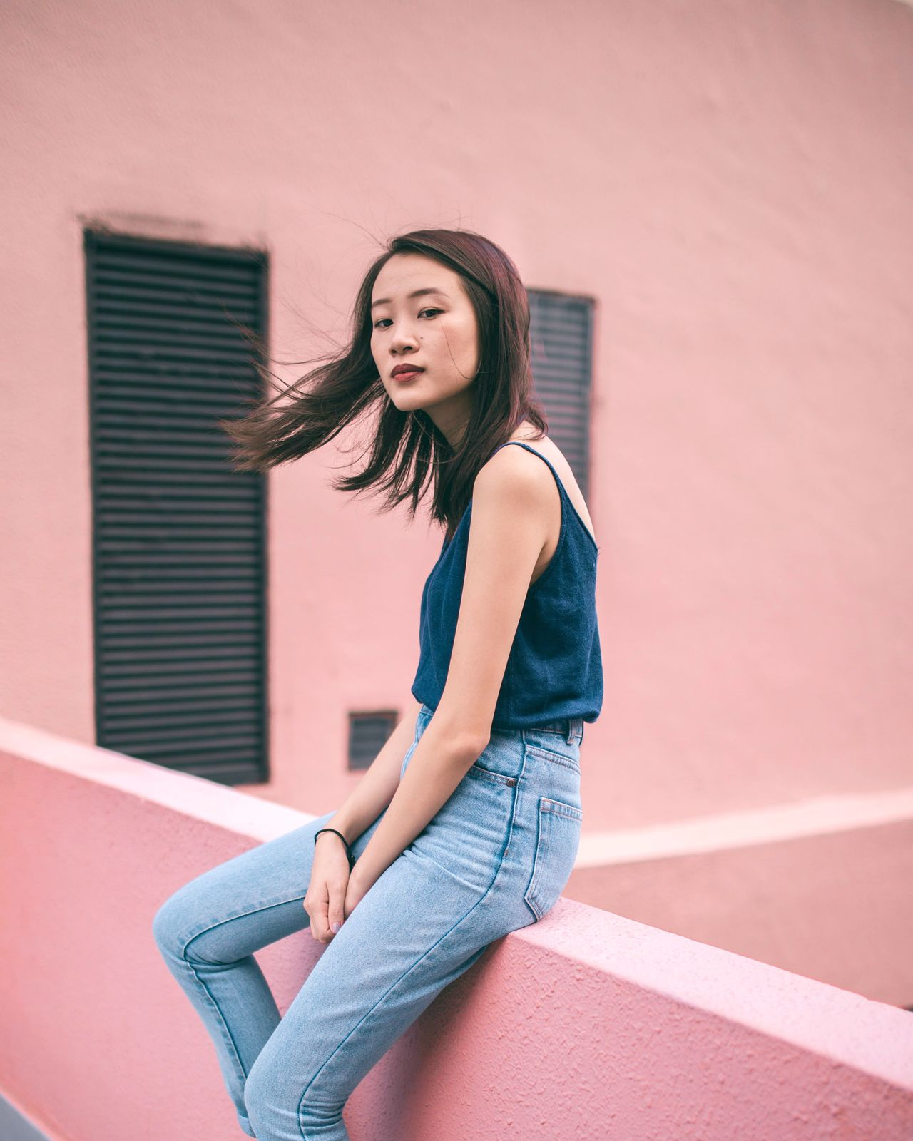 do you dream of me, when i dream of you? Portrait Portrait Of A Woman Portrait Of A Girl Portrait Photography Pastel Pink Young Women Women Of EyeEm Women Who Inspire You Singapore TakeoverContrast Wind Freedom Carefree The Week On EyeEm Millennial Pink The Portraitist - 2017 EyeEm Awards