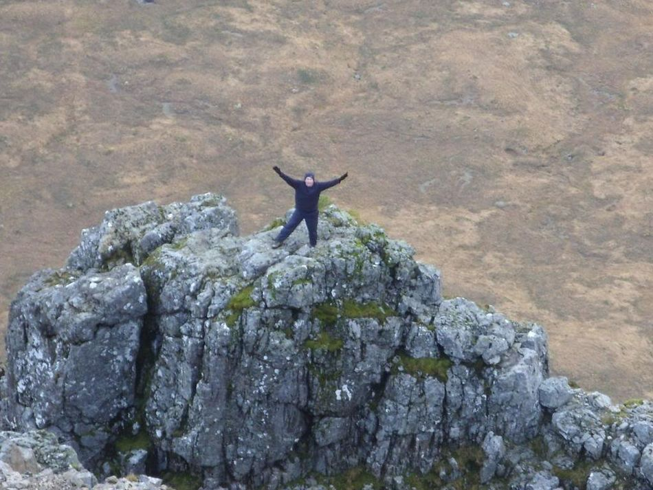 On top of Crowberrytower on Buachaille Etive Mor, Glencoe Mountains Scotland Scottish Highlands Hillwalking Scrambling Adventure Club Adventure Exciting VisitScotland