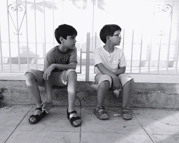 Childhood Child Males  Look Seated Watch Look At  Children Only Full Length Friendship Brothers EyeEm Selects