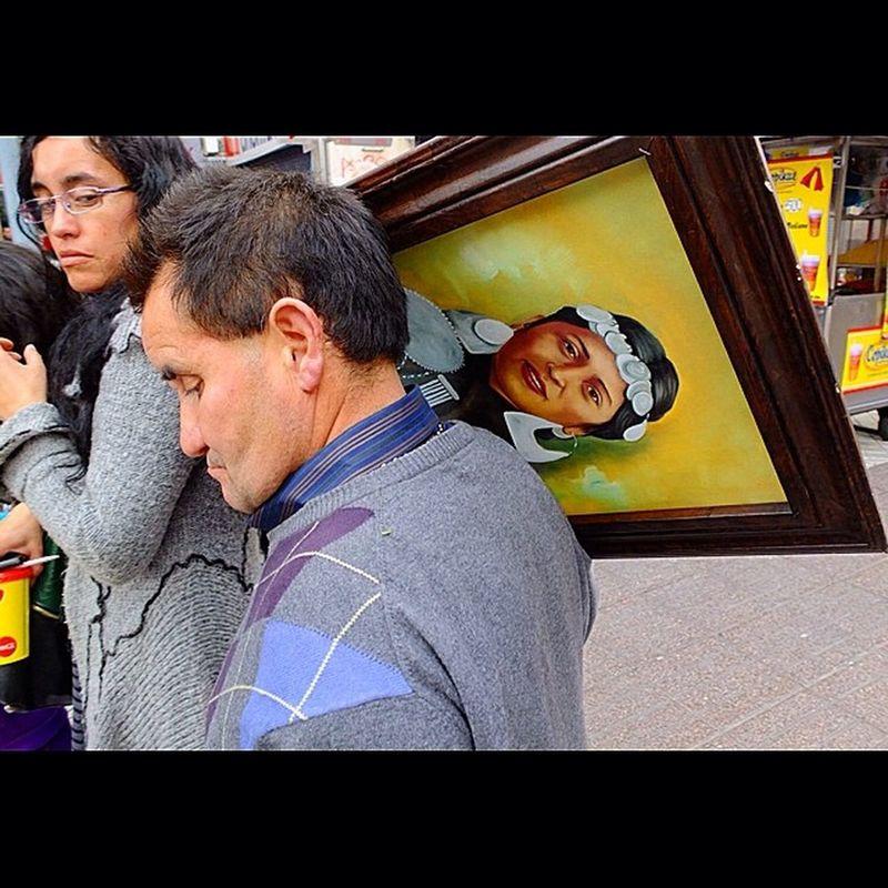 Mapuches en las calles de Santiago..... Chile Santiago Mapuches