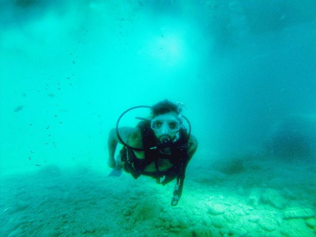Underwater Water Swimming UnderSea Exploration Blue Beauty In Nature Waterfront Nature Diving Diver SCUBA Scubadiving Antalya First Eyeem Photo