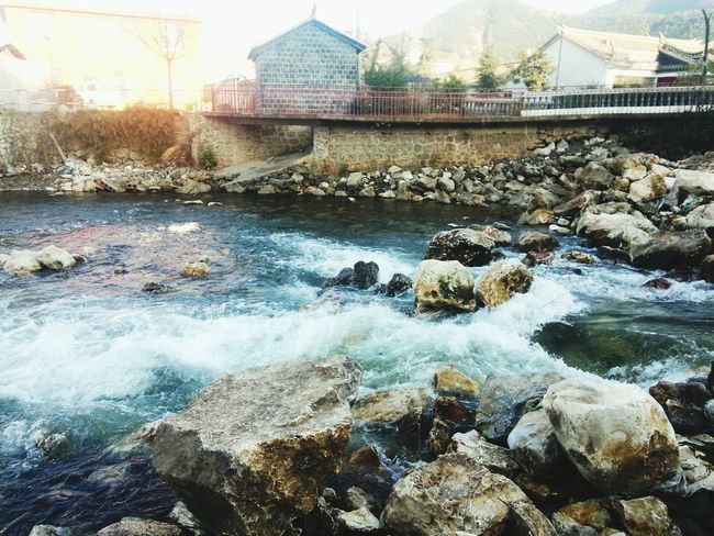 Starting A Trip :)) Yili river. Yunnan province. China Nature Scenery Of The Town