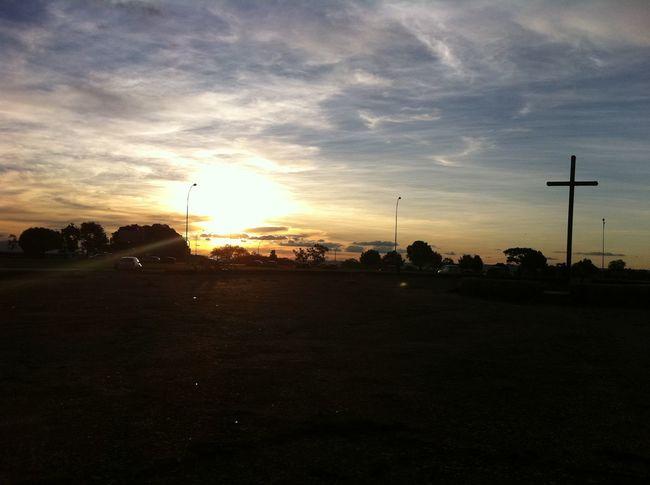 Cruz Cruzeiro Céu Meditación Nuvens Paz Por Do Sol ⛅ Sol