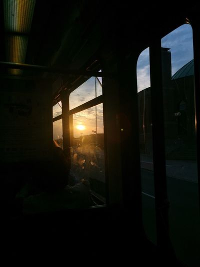 Window Indoors  Architecture Built Structure Silhouette Sunset Sky No People Day Nature Subway Tram Windows Paint The Town Yellow