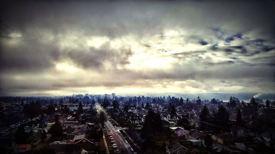 View from 6th floor, Everett, Wa, hospital's Intensive Care Unit, where my beloved Uncle has been in since Dec. 26, 2015. From My Point Of View Witnessing Beautiful Amazing View Every Morning So Grateful Thank You God For Another Day Growing Better Slowlyimproving The Strongest Man God Gives His Toughest Battles To His Strongest Soldiers Family Love  Strengthfromabove Faithhopelove Prayers Everyday A Blessing Snapshots Of Life New Reality Looking Down Yet Looking Up To Him Optimism Sun Shining Through Clouds