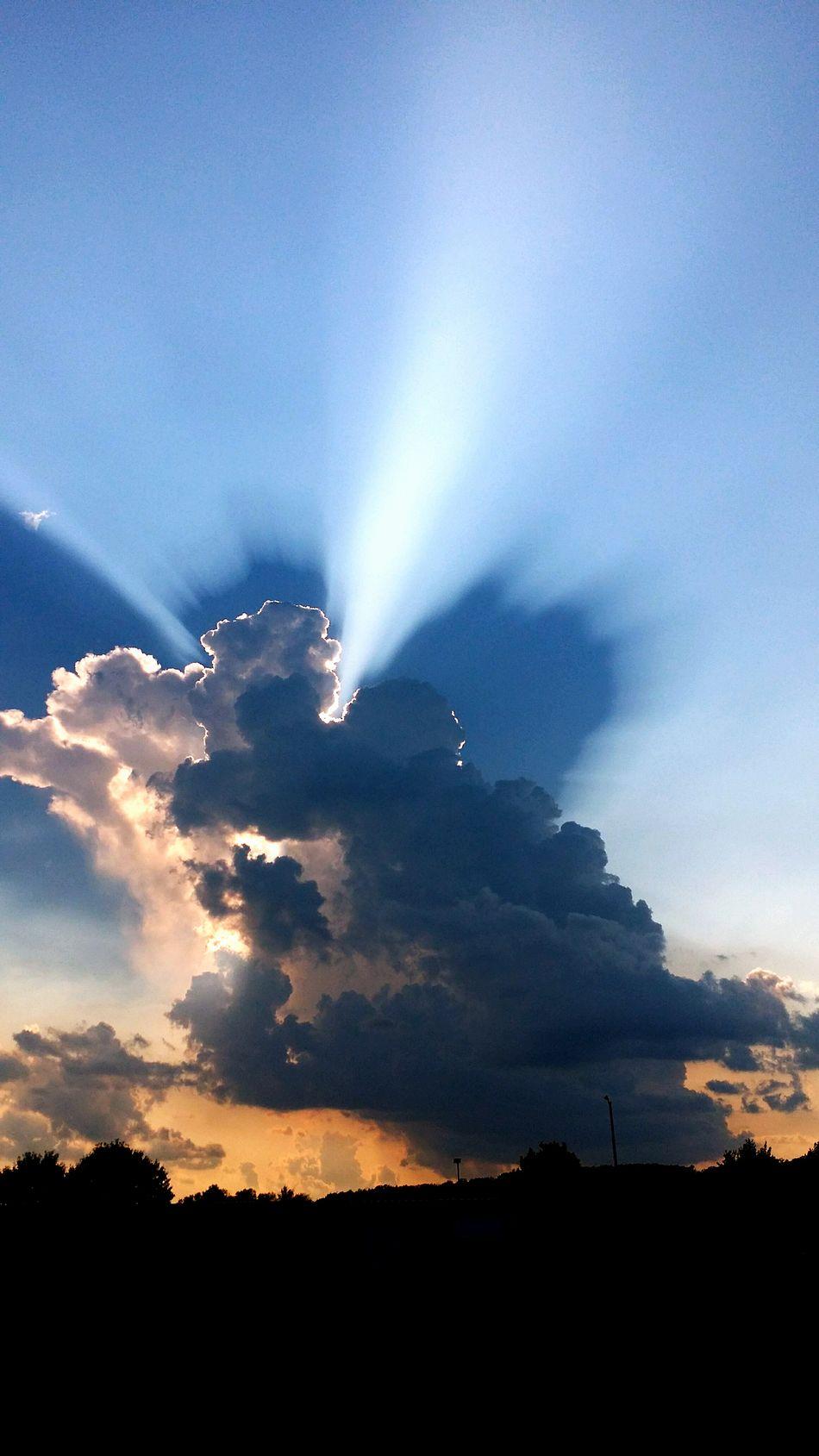Sun light bursting through the clouds. Enjoying Life Hello World Sun&Clouds Sunset