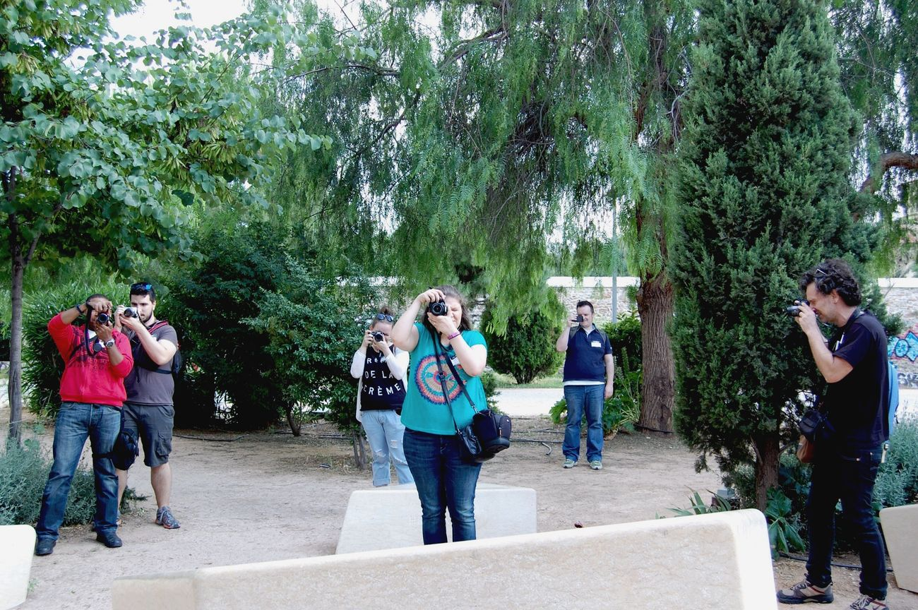 Reservoir dogs. Who shot first? (Notice the butterfly, down left. She was the star of our adventure!) EEA3 EEA3 - Athens Snapthesnapper Photographing Photographers Photographing The Photographer Photowalk Nikonphotography Color Photography OpenEdit Walking Around The City