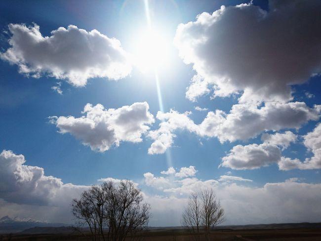 Iran♥ Hamadan Ali-sadr Cave Beautiful Sky Suny Day Sun Tree And Sky Blue Sky White Clouds Sony Xperia Z5 Premium
