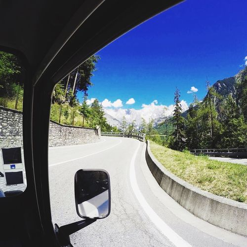 Road Blue Vehicle Interior Travel Sky Mountain Journey Gopro France Landrover  Defender90 AlpesFrancaises
