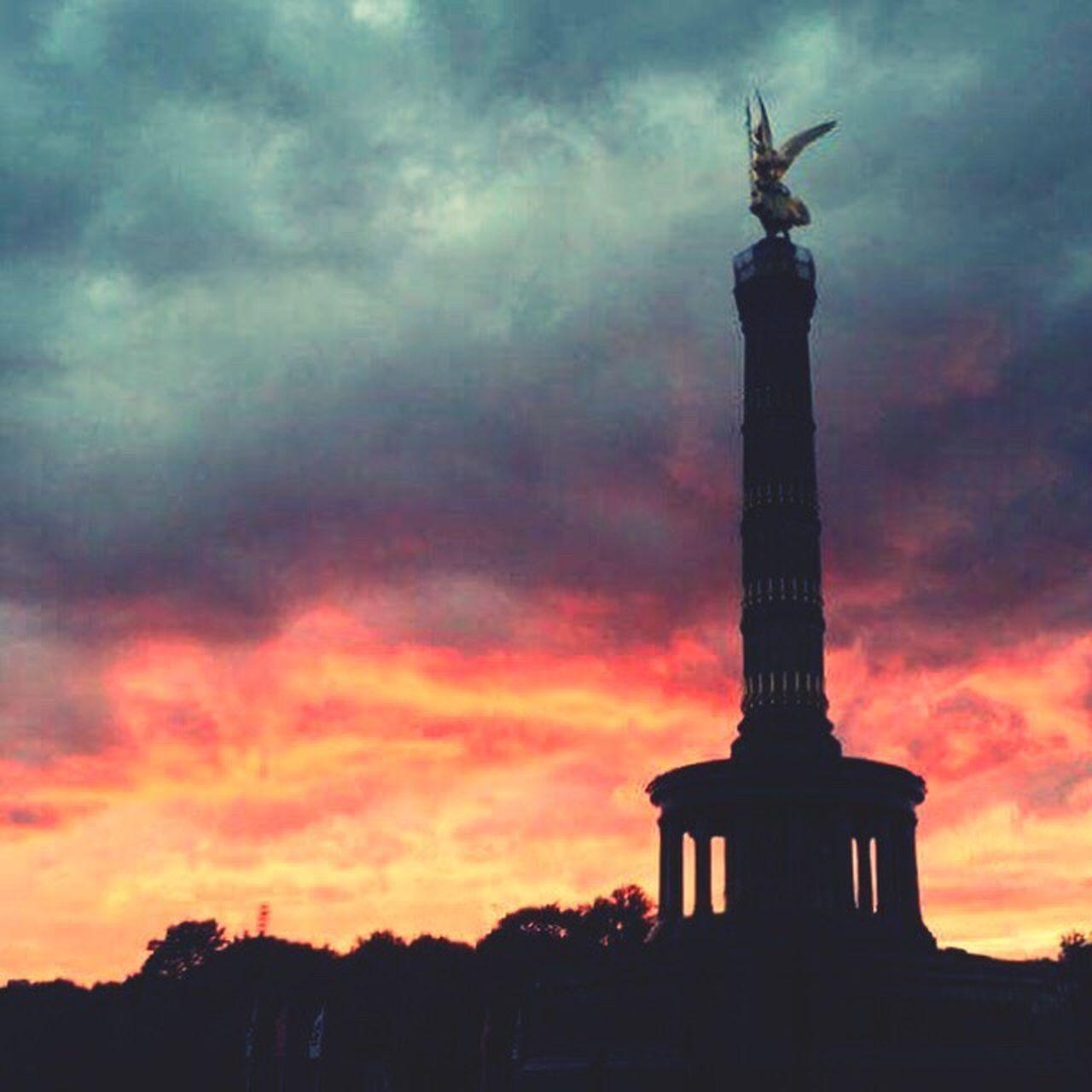 --- I cry when angels deserve to die ---> Hello World Berlin Victorycolumn Angel Sky And Clouds Derhimmelüberberlin Berlin Mitte Berlinlove