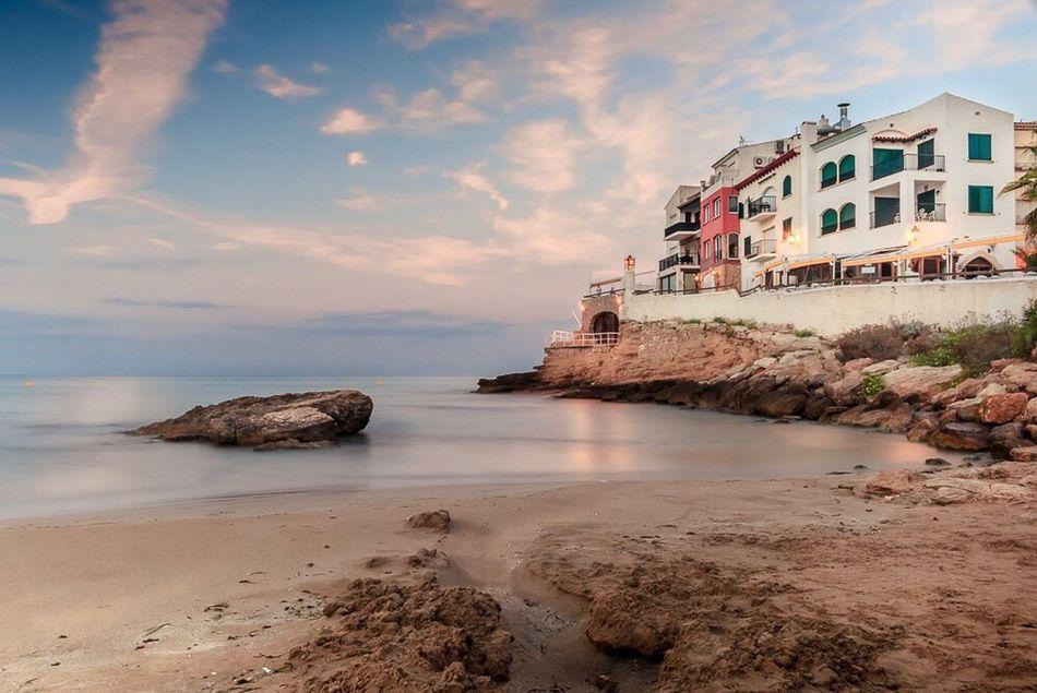 Roc De Sant Gaietà Sea Beach Water Rock - Object Tranquil Scene Beauty In Nature
