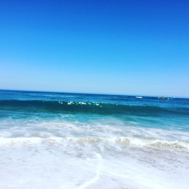Good Morning My Friends Its Summer Time! Back Home ♥ I Love My City Beach Photography Life Is A Beach Beautiful Day Waves, Ocean, Nature Waves In The Sand Ocean Pacific Blue Sky Blue Sea