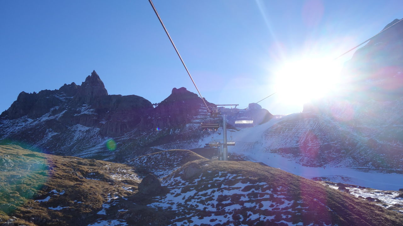 Alps Beauty In Nature Cold Temperature Italy Italy❤️ Landscape Leisure Activity Mountain Mountain Peak Mountain Range Mountain View Nature Overhead Cable Car Scenics Selva Di Valgardena Ski Lift Snow Sun Sunbeam Sunlight Taking Photos Taking Pictures Vacation Vacations Winter