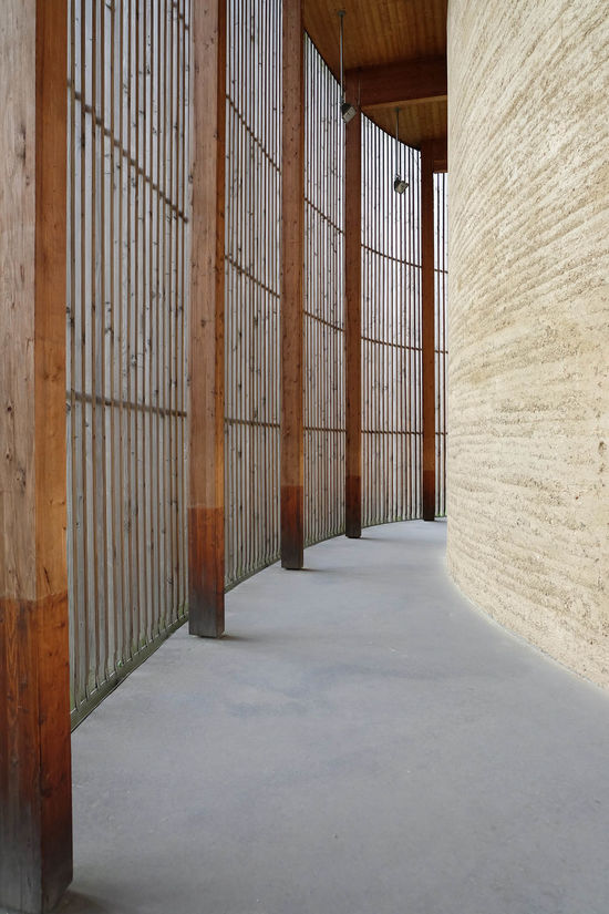 Architecture Chapel Chapelle Indoors  Leading Lines Pattern Rammed Earth Religion The Way Forward Wood