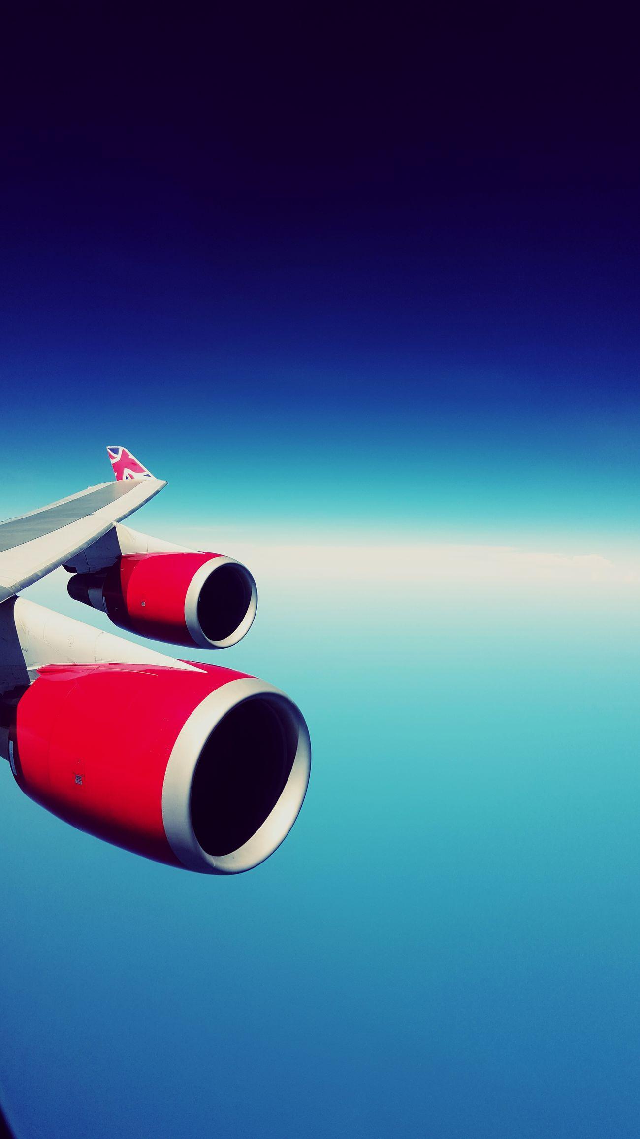 From An Airplane Window Plane View Orlando 2016 Hi Slp Family Vacation Quality Time Virgin Atlantic Boeing 747 Jumbojet Crossing The Atlantic