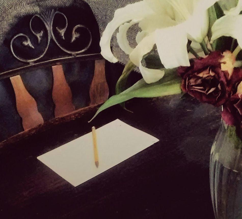 Taking Photos Vintage Tweed Classic Style Minimalism Showcase April Still Life Staging Pencil Paper Pastel Colors Table Vase Flowers Arrangement The Mix Up