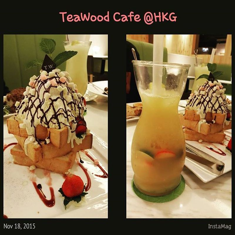 Thx for treat me tonight ;) nice to see you guys HKG Teawood Taiwanese Cafe