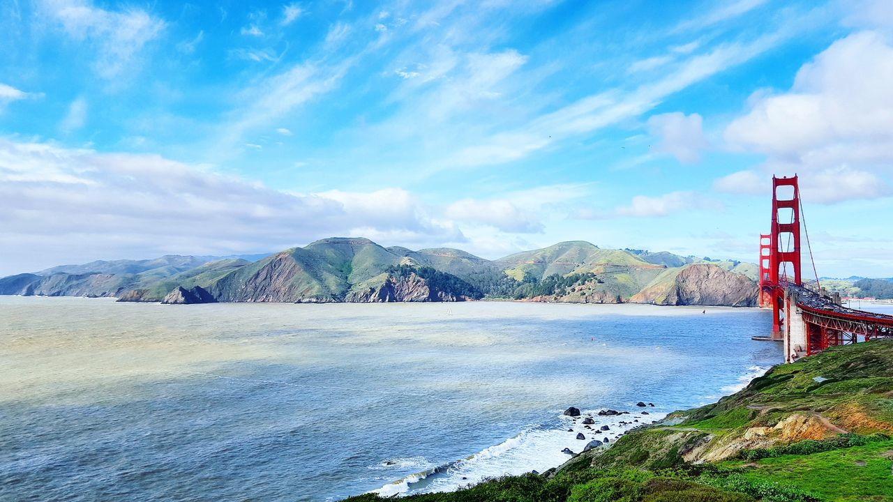 Outdoors Nature Cloud - Sky Sky Golden Gate Bridge San Francisco Ocean Landscape