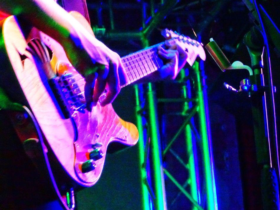 Millenial Pink Women Illuminated Human Hand Guitar Player Colorful :-):-):-)