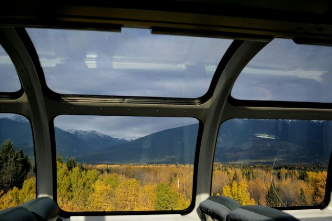VIA Rail On The Train Fall Beauty Canada Coast To Coast View From The Window... Beautiful British Columbia Mountain View From A Moving Vehicle Canada Fall Colors
