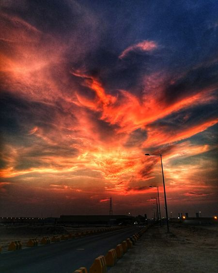 when you see it? this photo is taken while im going to work 0515am Skyonfire Dramatic Sky Beauty In Nature Phonephotography📱 Huawei P9 Leica Qatar , Eyeemphoto EyeEm Nature Lover EyeEmbestshots Doha,Qatar