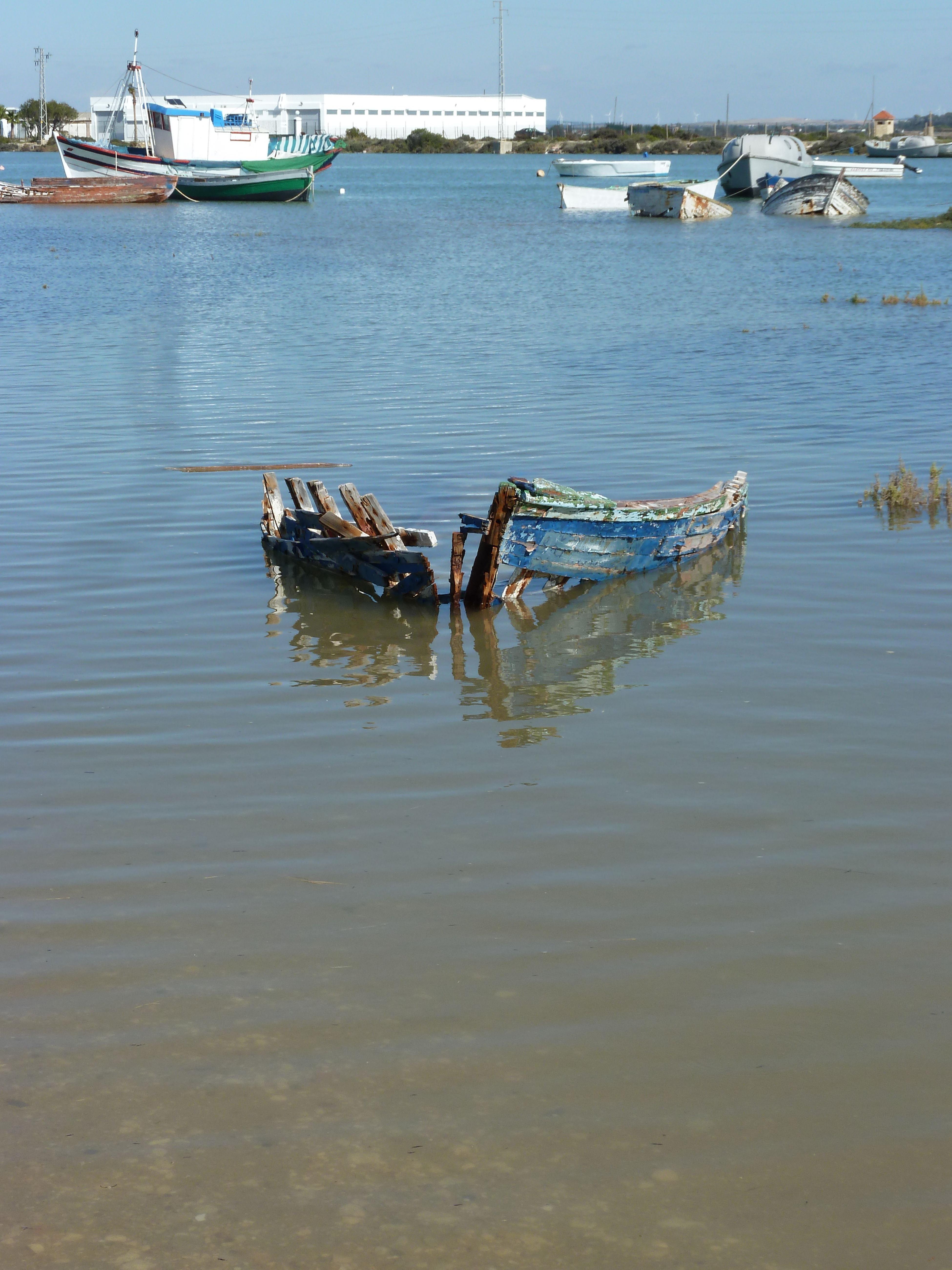 Schiffsfrack Boot Ship Meer Sea
