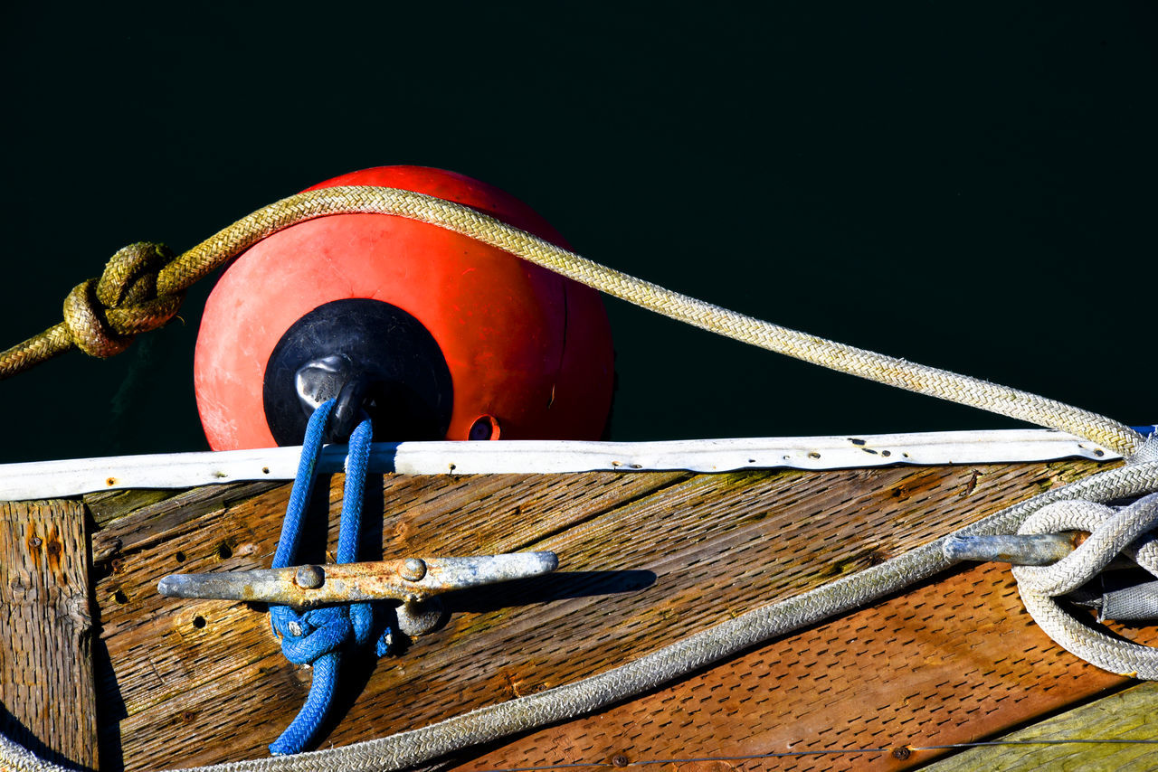 Boat Dock Blue Rope Boat Dock Bum Cleat Day Orange Color Outdoors Water EyeEmNewHere