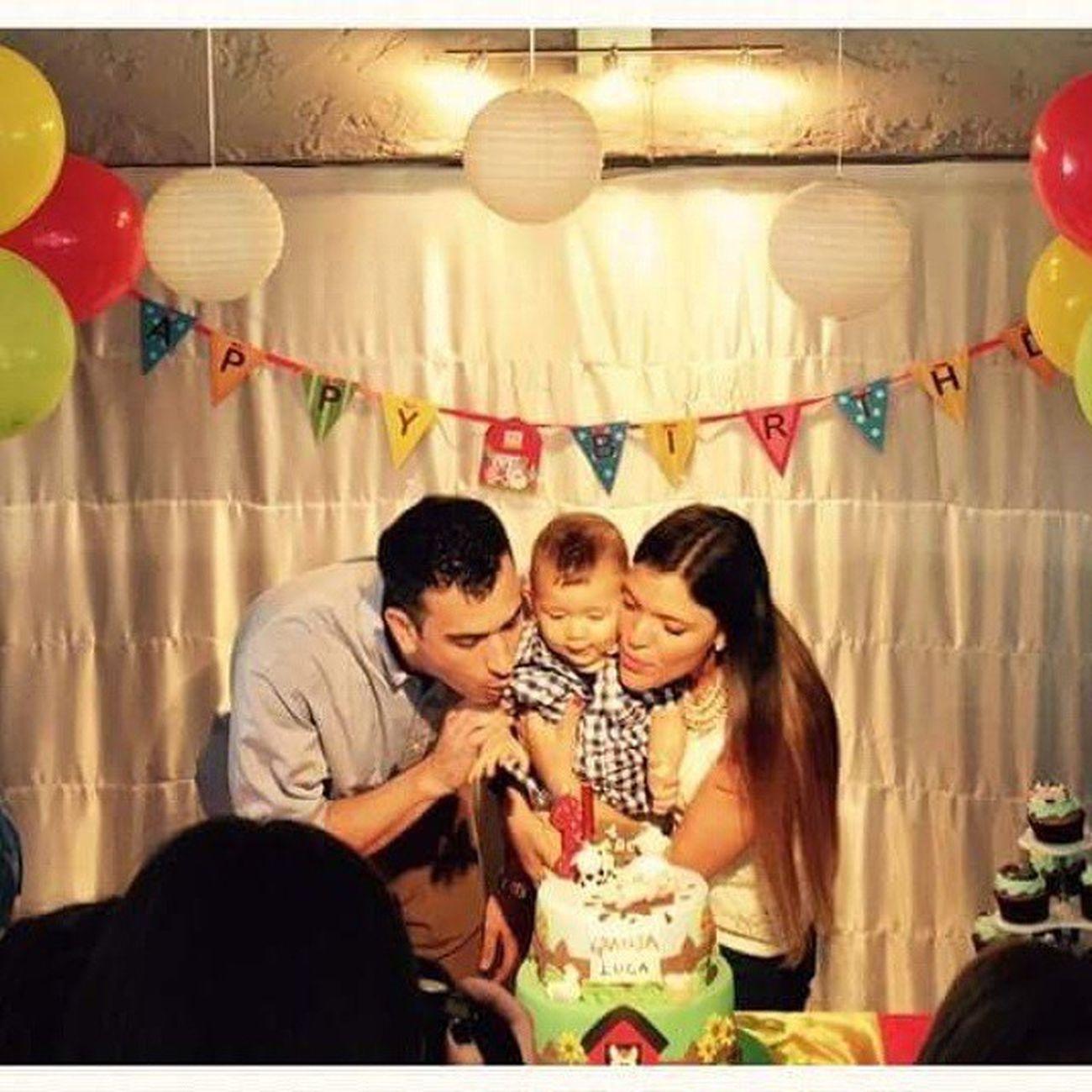 Luca Sobrino Primer Anito Uruguay Gordito Lindo  Mimoso Tió Feliz Happy Nice Cute Papas Tin Natu TQM Love Cumpleaños Tarta Sopalarvelas 1°