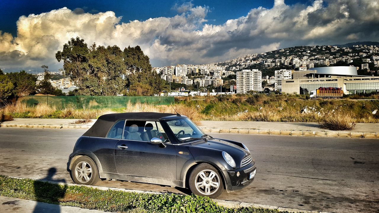 Escape Carporn Landscape Urban Landscape Urbanscape MiniCooper Minicabrio Mini Beirut Dbayeh Hdr_Collection EyeEm Best Shots Mobilephotography Shootermag