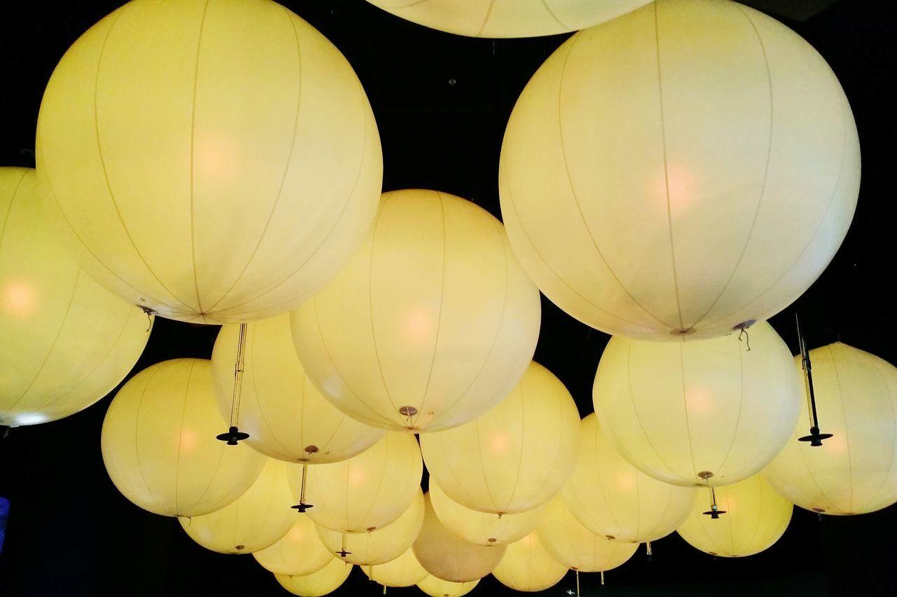 hanging, low angle view, illuminated, celebration, no people, night, outdoors, lantern, close-up