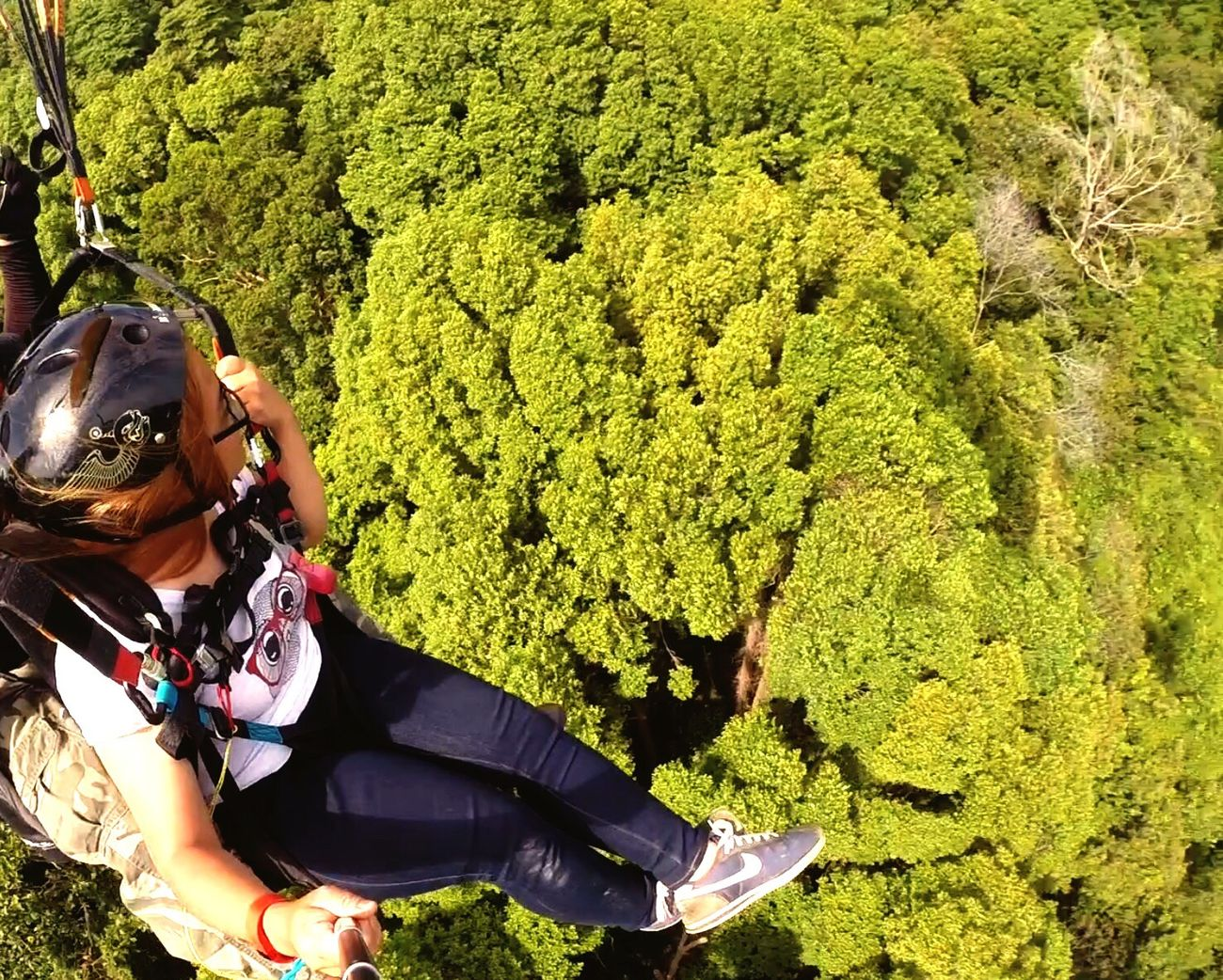 Nature Enjoying Life Tandem Paragliding Paragliding Flying High Green ThatsMe Naturelovers Fly Landscapes With WhiteWall